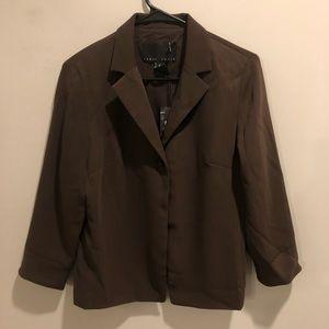Yansi fugel blazer brown perfect for fall NWT